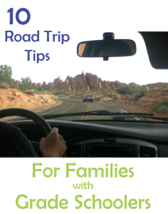 Unique tips for taking a road trip with grade school aged kids.