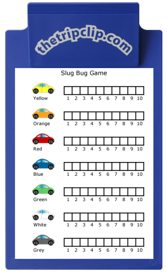 This printable slug bug game is very entertaining on road trips and even just around town. Your kids can easily keep track of points, and even learn some simple graphing skills in the process!
