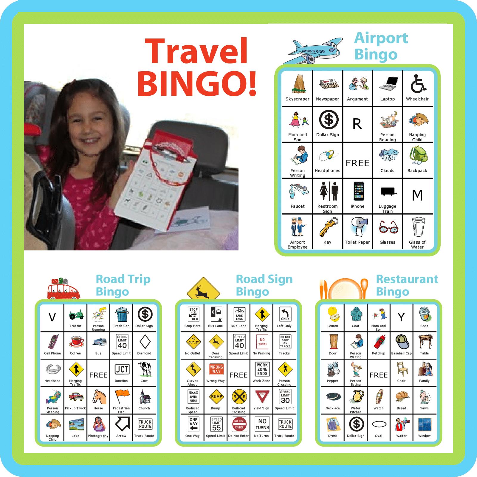 It is an image of Travel Bingo Printable inside instagram