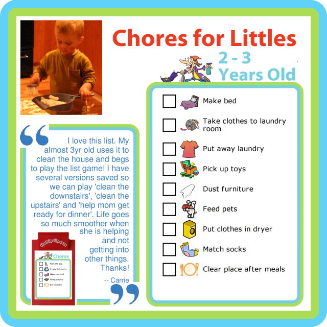 Print this chore list for free, or edit it to make it just right for your family.