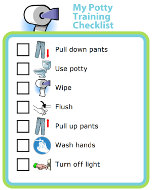 Try this free potty training checklist to help your little one learn good habits!