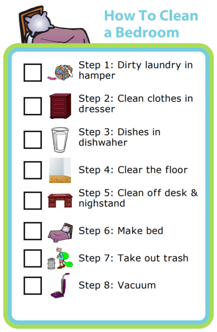 Free printable how to clean a bedroom the trip clip How to clean your bedroom step by step