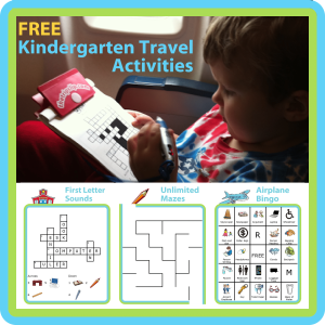 If you're headed out of town soon, try printing these kindergarten travel activities to keep your little one entertained. They're free!