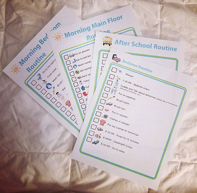 I finally finished the routine checklists that have been on my to do list a long time. Going to laminate and then ready to use!! I used templates from @thetripclip . The website is really easy to use. It has 2 different subscription levels. Go check them out!!!