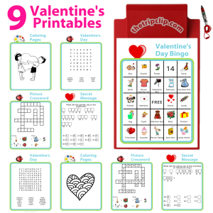 These activities are great for keeping your kids entertained while celebrating the holiday, and they may learn a little something too!  They can also be great to use at a classroom Valentine's Day party.