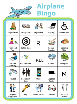 This airport bingo board is a great way to fill the time between security and boarding the plane. This is one of my kids' favorites Trip Clip Activities. You can even edit the board, and print a new one for each trip. Try it with a kid clipboard from www.thetripclip.com!