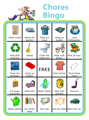 You can create your own Chores BINGO board at www.thetripclip.com. This is a great way to get your kids to do some chores and keep it fun.