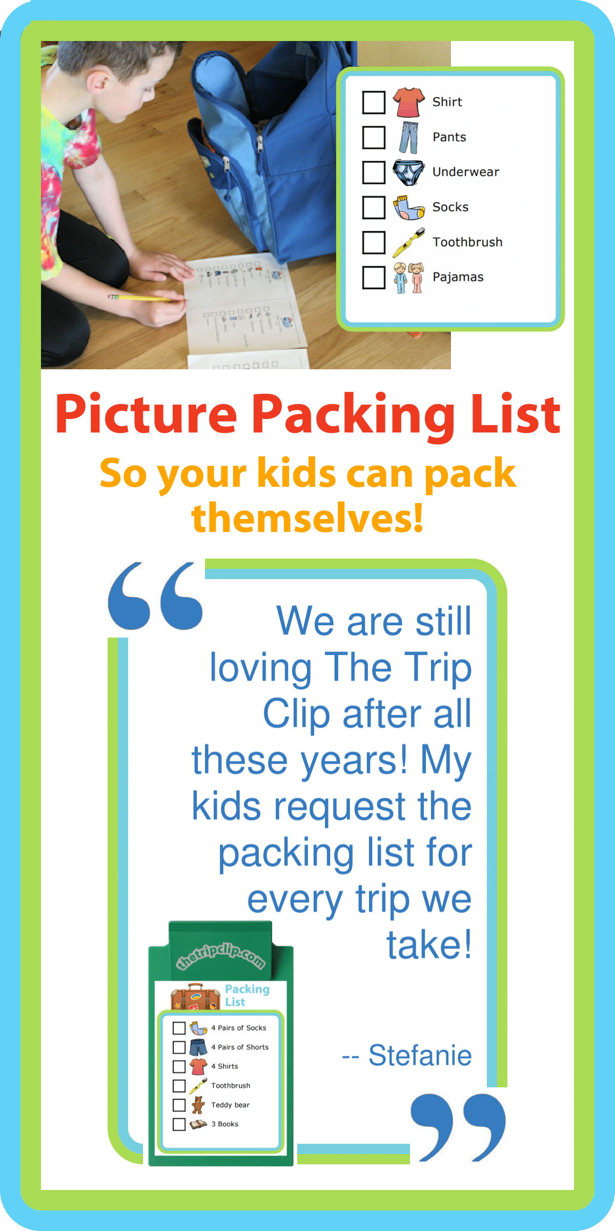 make your own packing list