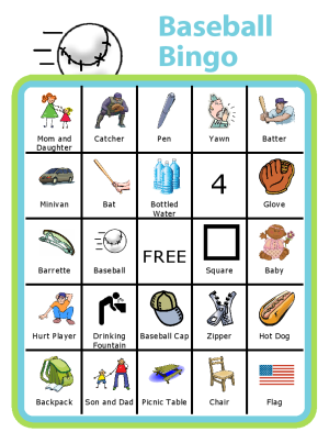 Baseball season often means lots of time in the stands for siblings. Personalize this bingo board for your child or your baseball field.