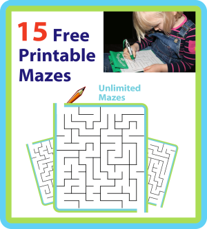 Mazes are wonderful entertainment on the go, and The Trip Clip makes it possible to print hundreds or even thousands of unique mazes that are just right for your child! Simply refresh the page and a new maze will be generated on the fly. You can also easily change the difficulty setting for your mazes. Start with Beginner, and work your way up to Extreme!