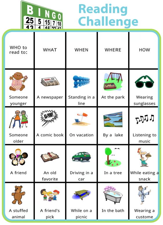 This is a super fun way to encourage your kids to read this summer! Challenge your child to get a BINGO in any direction, or even wipe out the whole board! You can also easily edit this board with your own challenges.