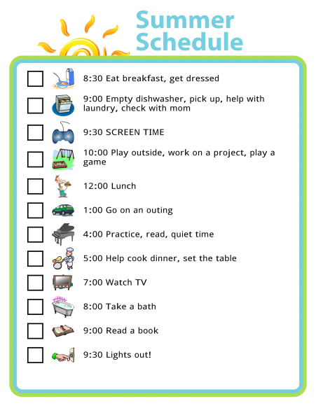 Feeling overwhelmed by long summer days stretching out ahead of you that need to be filled? A simple trick is to create a framework for each day. You might not need it every day, but sometimes it's nice to have a little structure to help you and the kids know what's coming.