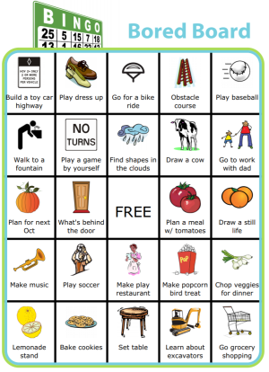 These Summer Bored Boards offer 9 free printable BINGO boards with ideas sure to inspire creative play. Have your kids try to get a BINGO, or black out the whole board. You can print these boards as is for free, or easily generate your own at www.thetripclip.com. There are over 500 images to choose from to inspire you and your kids to think of fun new activities to do this summer!