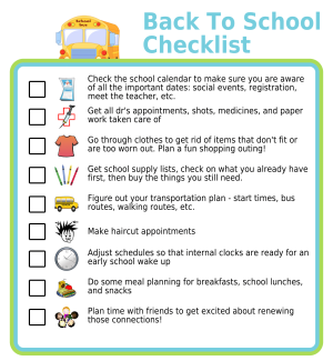 Get organized for the new school year to make sure everyone starts off on the right foot! Here's a great list of things you check off before your kids start school this fall. Am I missing anything?