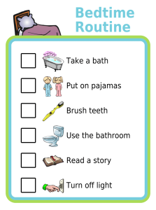 A bedtime routine with pictures is a fun and effective way to help your kids settle into bed. Kids respond well to routine, and the consistency that comes with writing down the routine and helping your kids know what to expect each night will help to calm them down and make bedtime smooth.