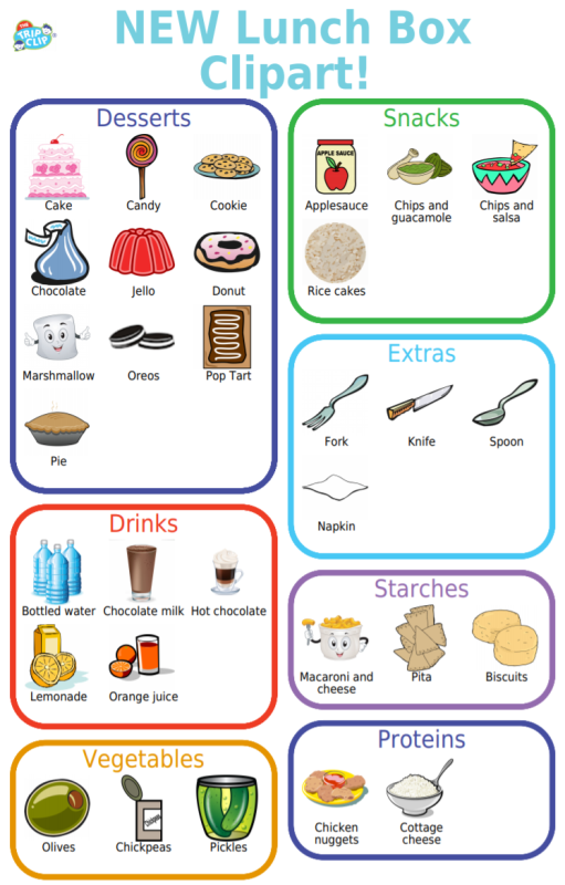 With the new school year starting I've been getting a lot of requests to add clipart to the lunch box checklist. It's a great way to help your kids take more responsibility for packing their lunch AND keep it healthy. Here are all the new items I added.