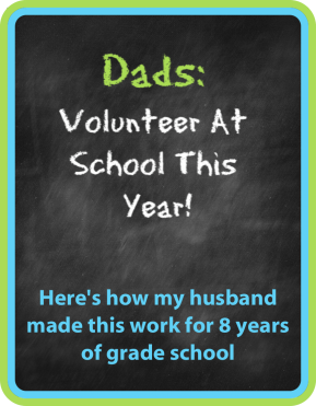 Women do a lot of unpaid labor, including most of the volunteering at school. Dads can help lighten this load, while also engaging in their child's education in an incredibly meaningful way that benefits dads and kids!