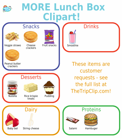 12 new images to help you make the perfect lunch box packing checklist!