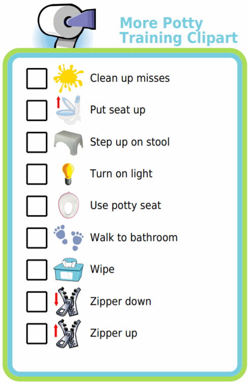I added a few more customer requested images to the potty training checklist activity!